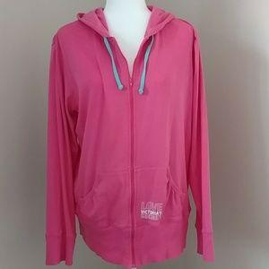 Victoria's Secret Hot Pink Long Sleeved hoodie